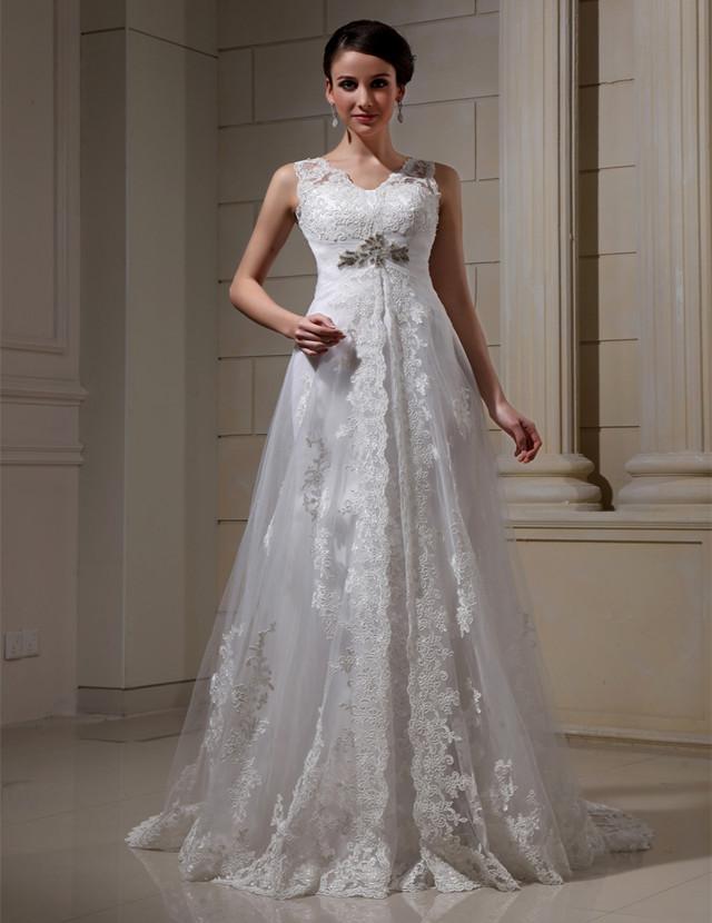 a64c0abeb WD013 barata y Simple de la boda Vestido de cuello en V Spaghetti Correa  vestido de