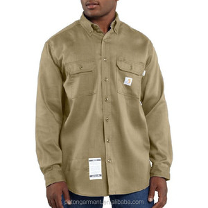 Flame Resistant Work-Dry Lightweight Twill Shirt mens workwear