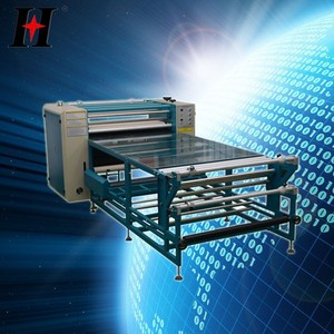 QX-G-B heat press machine high quality roller type sublimation transfer machine with rewinding function