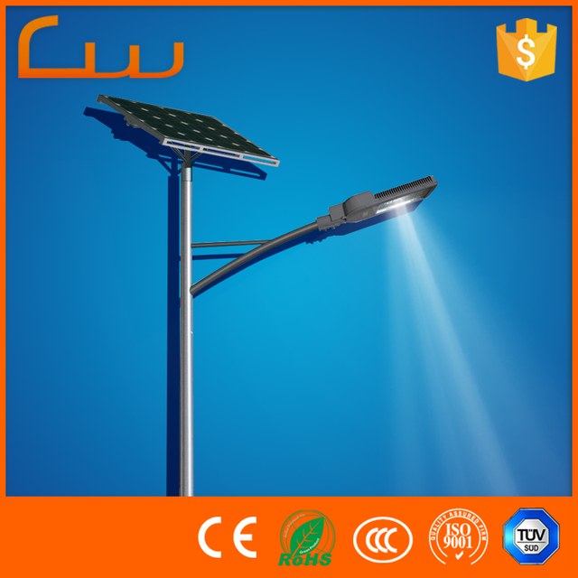 Factory Price Solar Led Street Light With Cast Iron Outdoor Lamp Post