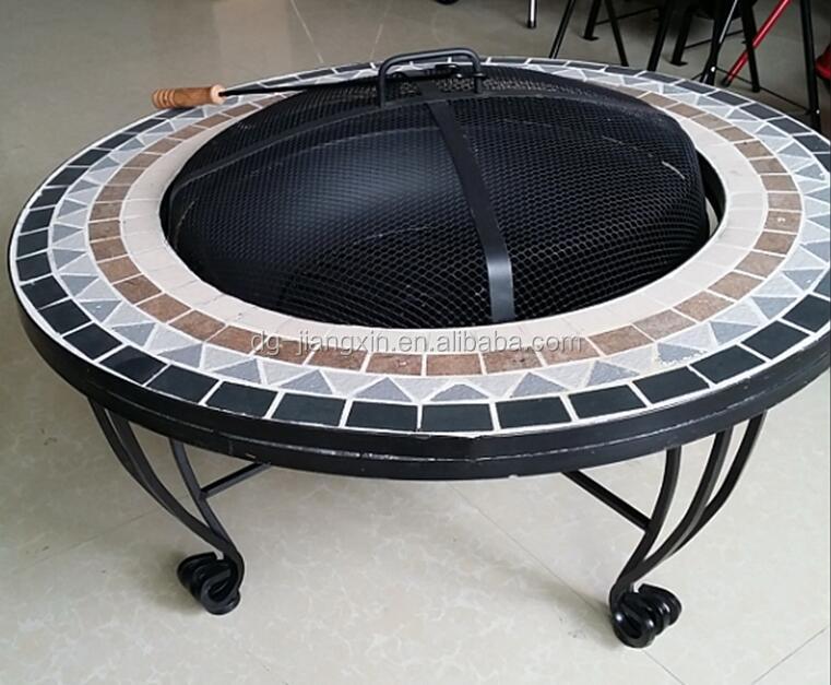 fogon electrico portatil piedra natural ronda pozo de fuego con mesa 34 inch