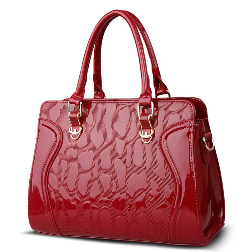 537fbb0e4c Get Quotations · New arrived messenger bag fashion tote vintage Designer  Luxury handbags women bag Patent Leather Bolsas crossbody