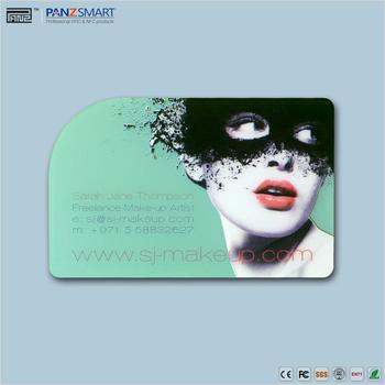 Customized Claire De Pvc Carte Visite En Plastique Transparent Clairement