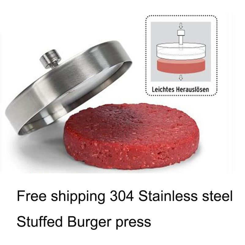 Hot Stainless steel Hamburger press Meatloaf Stuffed Burger press