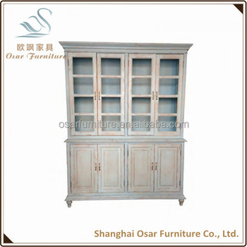 Rustic Furniture Vintage Solid Wood Tall Cabinet For Utensils