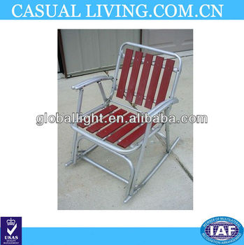 Vintage Aluminum Folding Redwood Wood Slat Lawn Rocking Chair Patio Deck  Beach - Buy Beach Chairs Walmart,Comfortable Beach Chair,Lounger Beach  Chair ...
