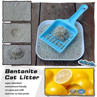 Bentonite Kitty sand/Bentonite Litter Clay Cat Litter Lemon