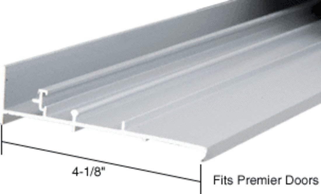 """CRL Aluminum OEM Replacement Patio Door Threshold for Premier Doors; 4-1/8"""" X 8 ft Long"""
