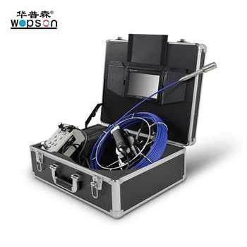Wopson 20M Fiberglass Cable Small Drain Camera Inspection System with DVR