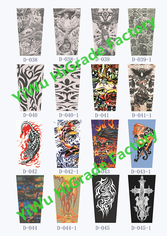Free shipping wholesale custom digital printed nylon spandex arm sleeve