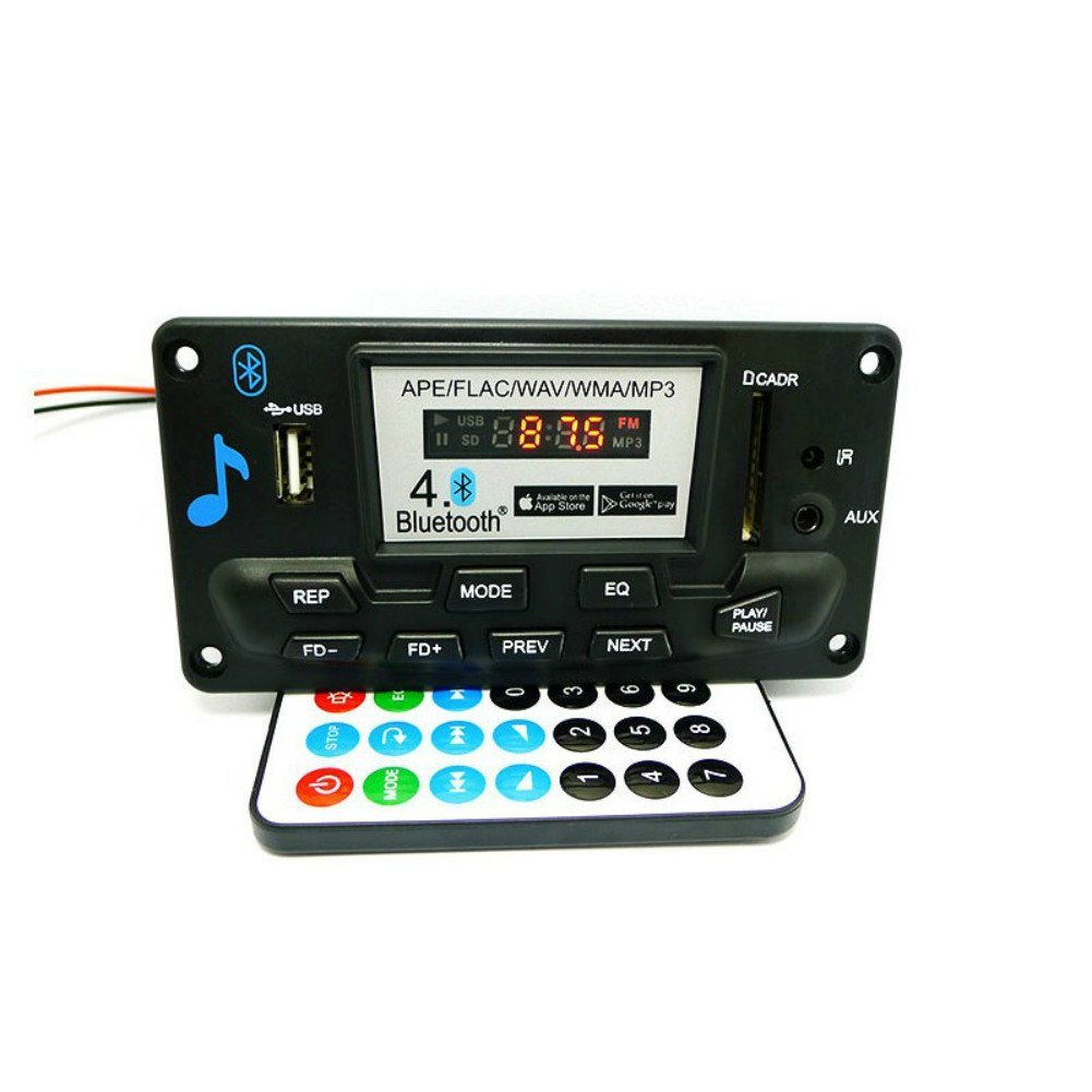 Buy Aoshike Digital Bluetooth 40 Audio Receiver Ape Wav Wma Mp3 Basic Radio Control Decoder Board Recording Function Fm