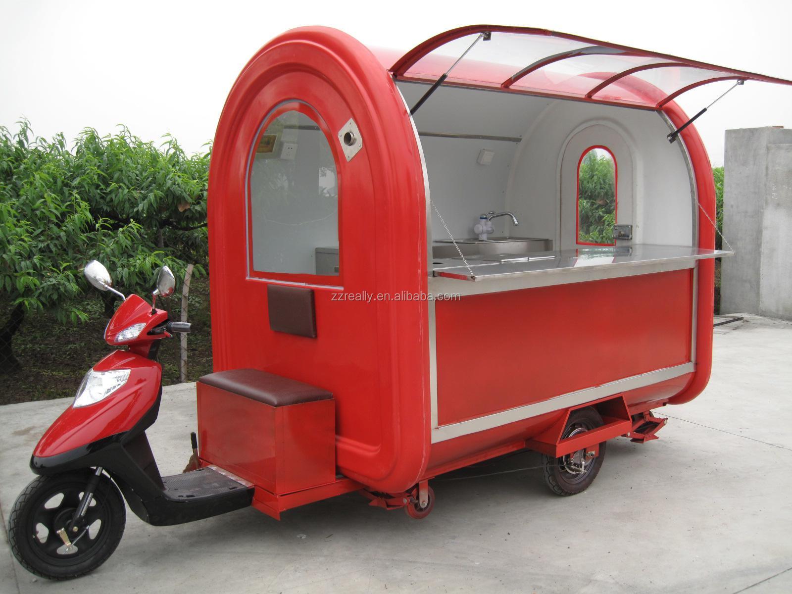 Popular China Mobile Food Kiosk Trolley Gasoline