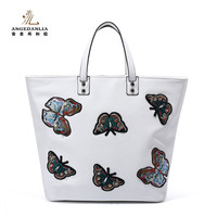 Woman fashion tote handbag 2017 Summer new butterfly design PU bags