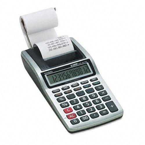 Casio : HR-8TM Handheld Calculator, 12-Digit LCD, One-Color Printing, Black -:- Sold as 2 Packs of - 1 - / - Total of 2 Each