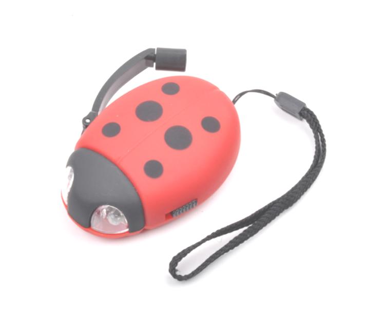 Sieben spot marienkäfer handkurbel dynamo taschenlampe für kinder