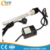 Submersible uv lamp for swimming pool disinfection device