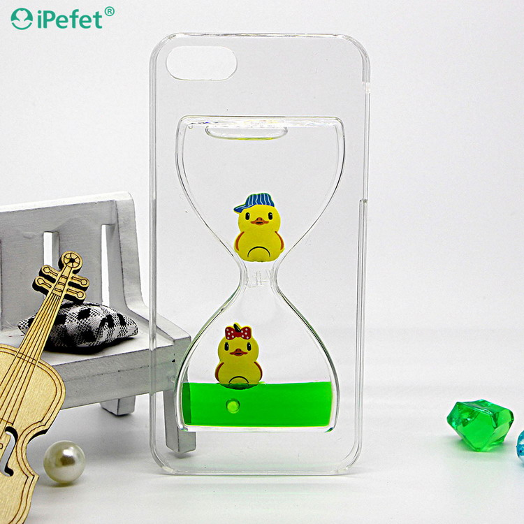Cute Floating Swimming Rubber Duck 3D Liquid Phone Case