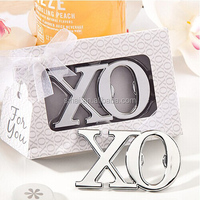 Wedding Gift Chrome XO Bottle Opener