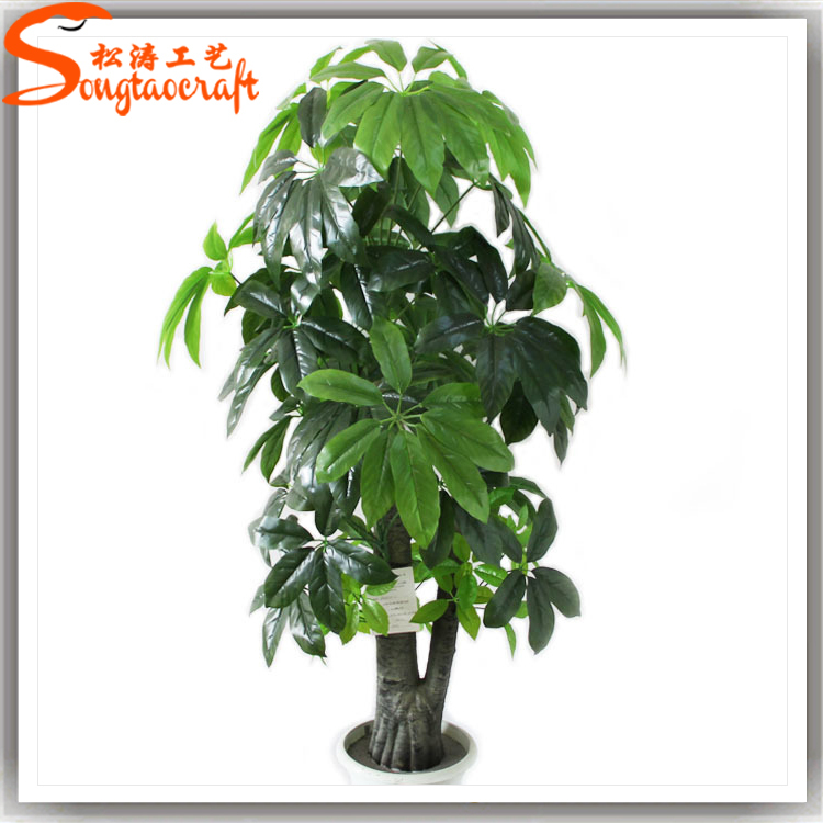 Indoor making artificial seven star leaf fake green plants