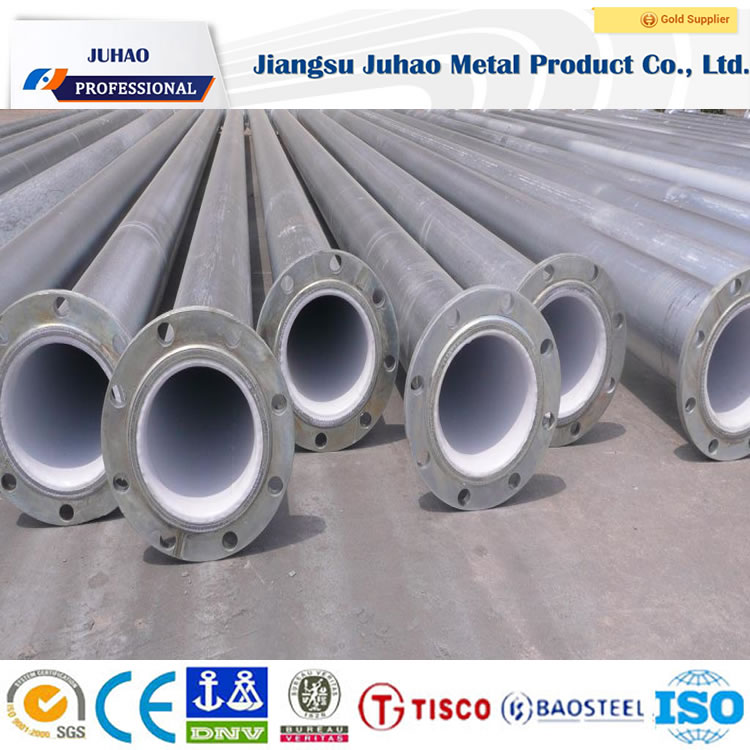 color plastic painted steel pipe with inside and outside China manufacturing
