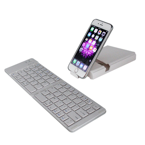 Slim foldable aluminum abs wireless bluetooth 3.0 keyboard