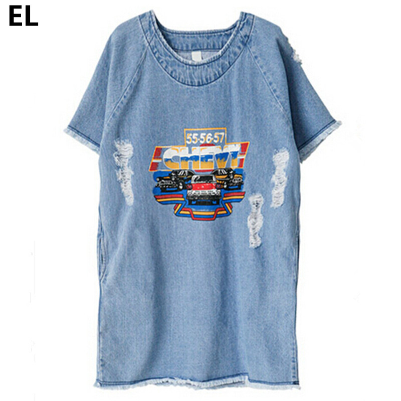 2c27ba5f2bf Get Quotations · Large size 3XL Sundress Jeans Women s Casual Plus size  vetidos Summer Style Printed Denim Dress Big