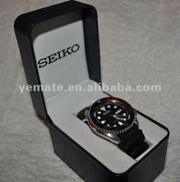 SEIKO black leather watch box -HWB-7