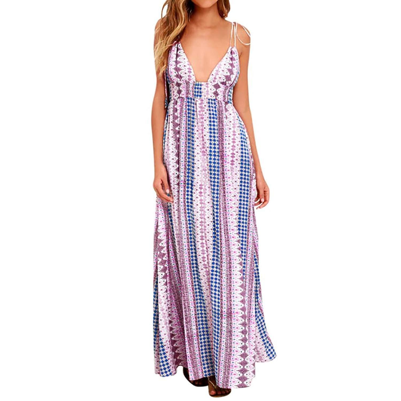 f5119fedae9 Get Quotations · Gyoume Womens Maxi Dress Graduation Ceremony Dress Summer  Boho Cocktail Beach Dress Sundress Prom Party Dress