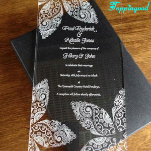 Engrave Butterfly Acrylic Card Invitation Wedding For Party Invitation