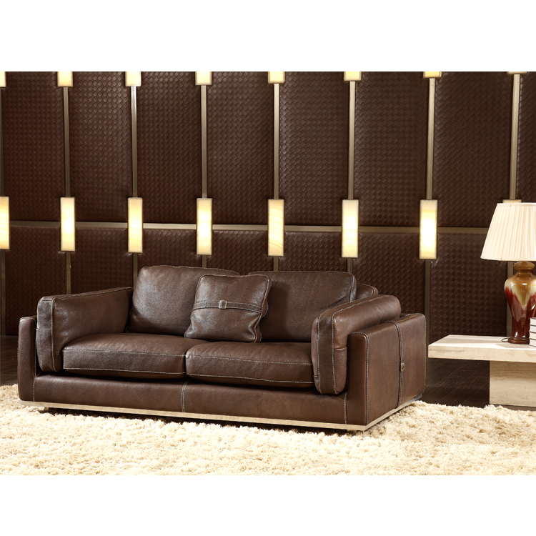 3 Seater Leather Sofa Modern