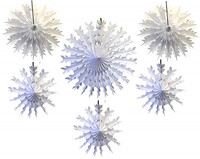 Large paper snowflake decorations Paper snowflake fan ornaments