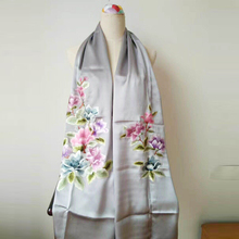 Factory Direct Best Selling Hand Made Digital Printing Silk Shawls and Scarves