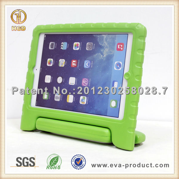 Shock proof EVA material for kids ipad mini retina case with stand