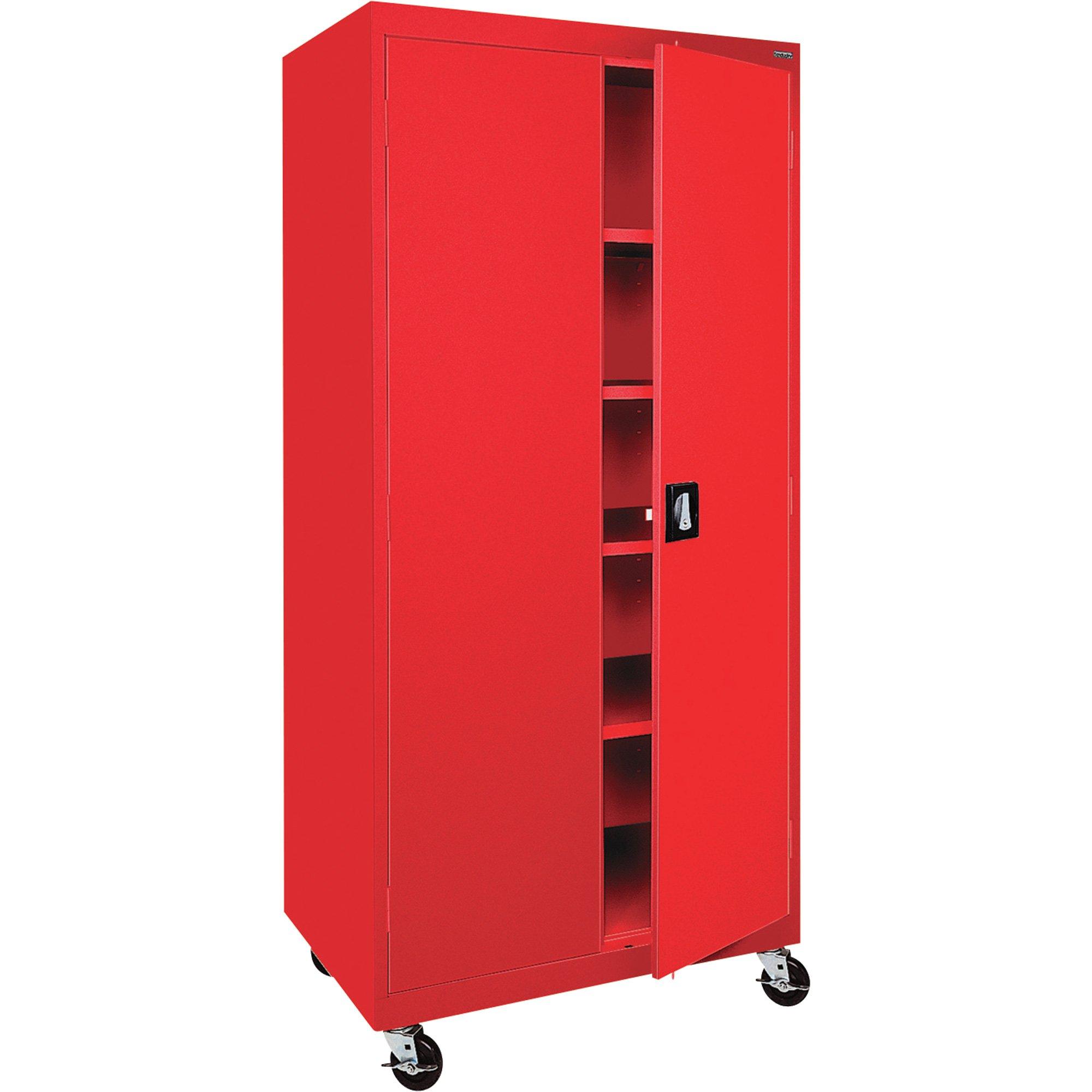 Sandusky Lee TA4R302466-01 Transport Series Mobile Storage Cabinet, Red