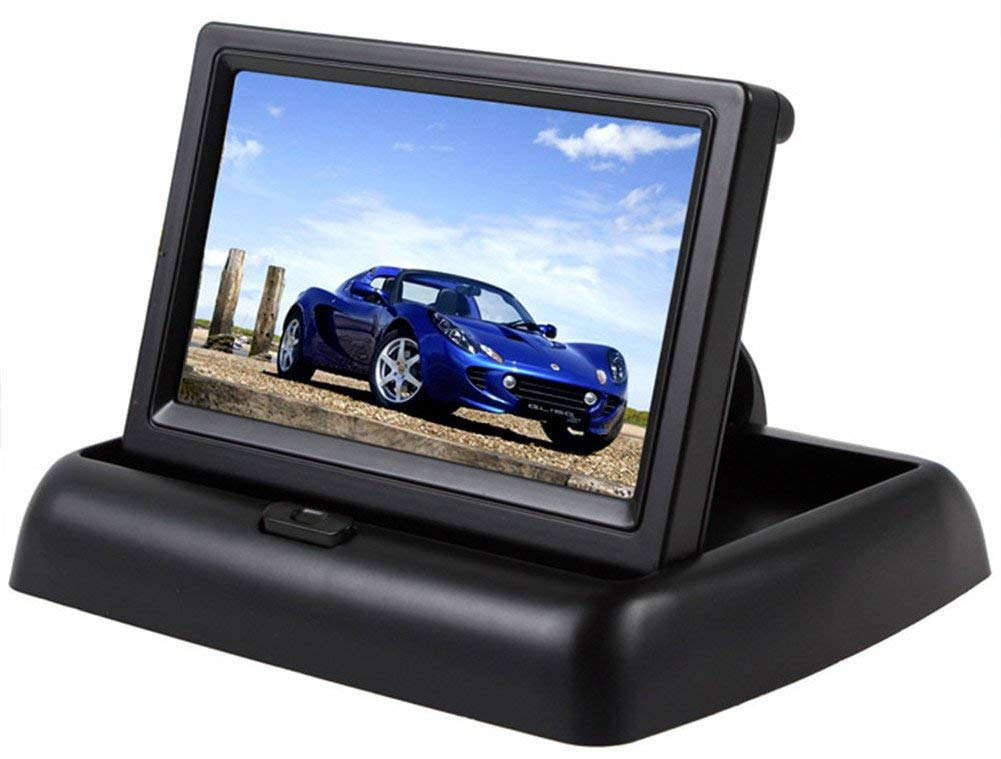 Foldable 4.3 Inch HD Car Rear View Screen Digital LCD Color Monitor Display Reversing Assist for Car Parking
