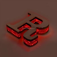2015new led backlit logo sign,cut out metal letter for tattoo neon sign
