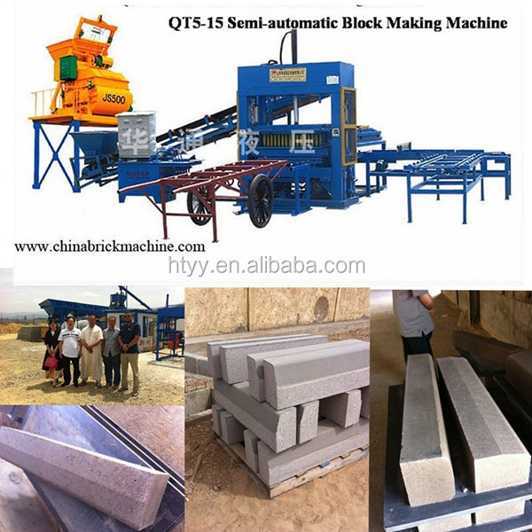 Cement Brick Raw Material and No Automatic paving block making machine