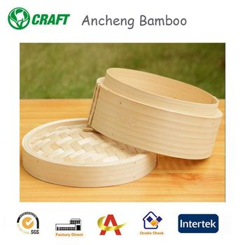 Hot sales portable mini bamboo steamer commercial bamboo steamer