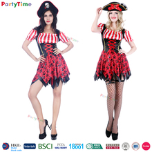 Estilo pirata cosplay vestidos sexy para mujer adultos de disfraces de halloween costume party proveedores al por mayor