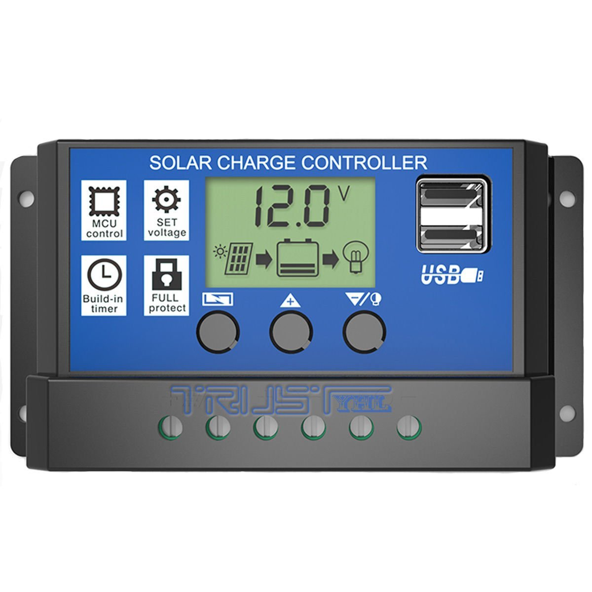 Solar Panel Controller Regulator Charge Battery Protection LCD 10/20/30A 12V/24V