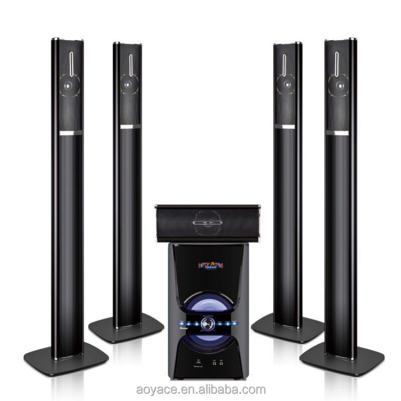 8 Inch Sound Bar Speaker Stand With USB/SD 5.1 Home Theater