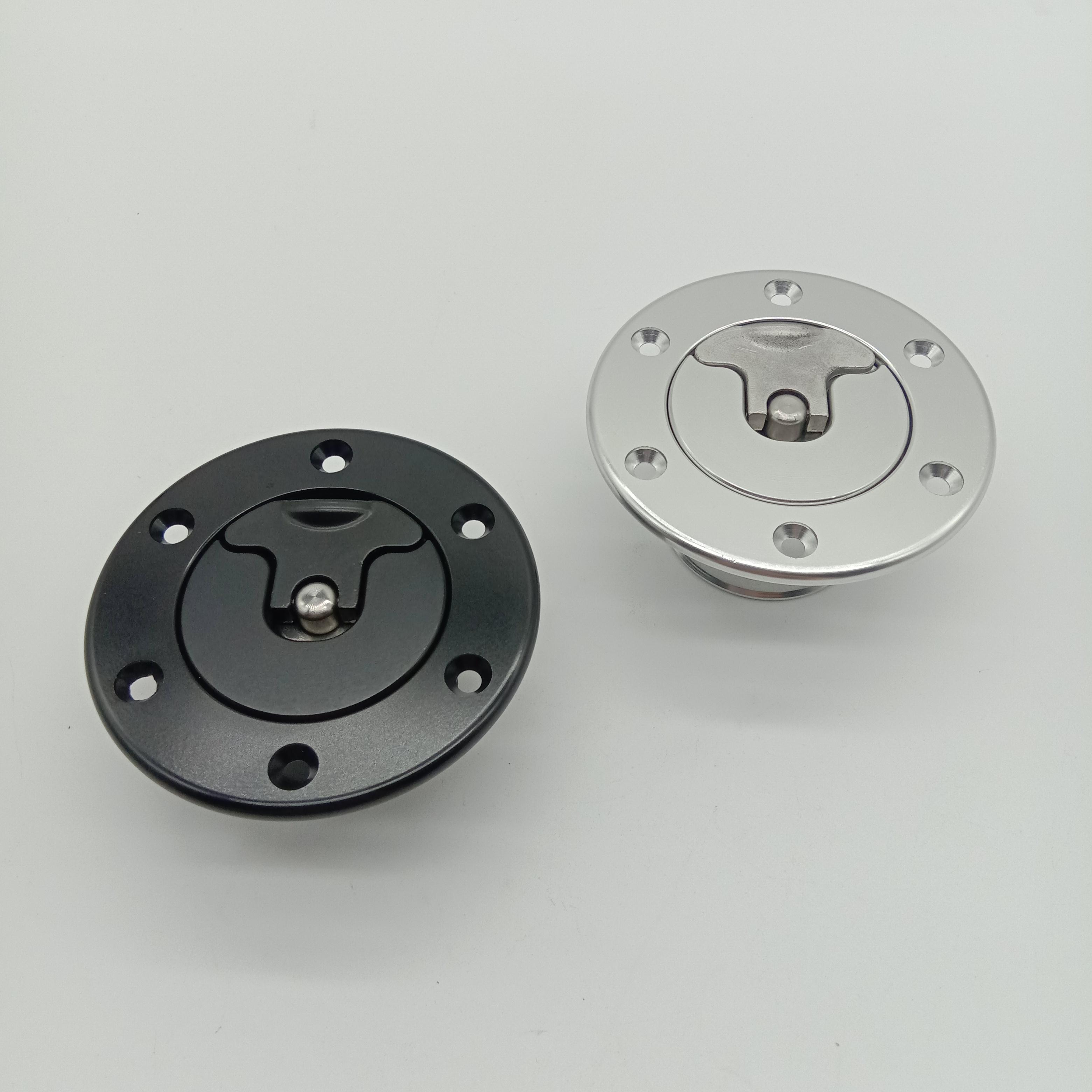 Aluminum Billet cnc machining Fuel cell surge tank cap Mount 6 bolt ID35.5