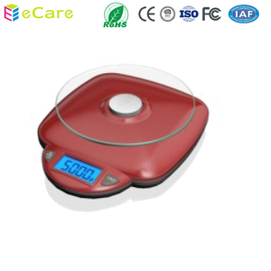 IC208 Red -1 Household mini kitchen glass scale for food