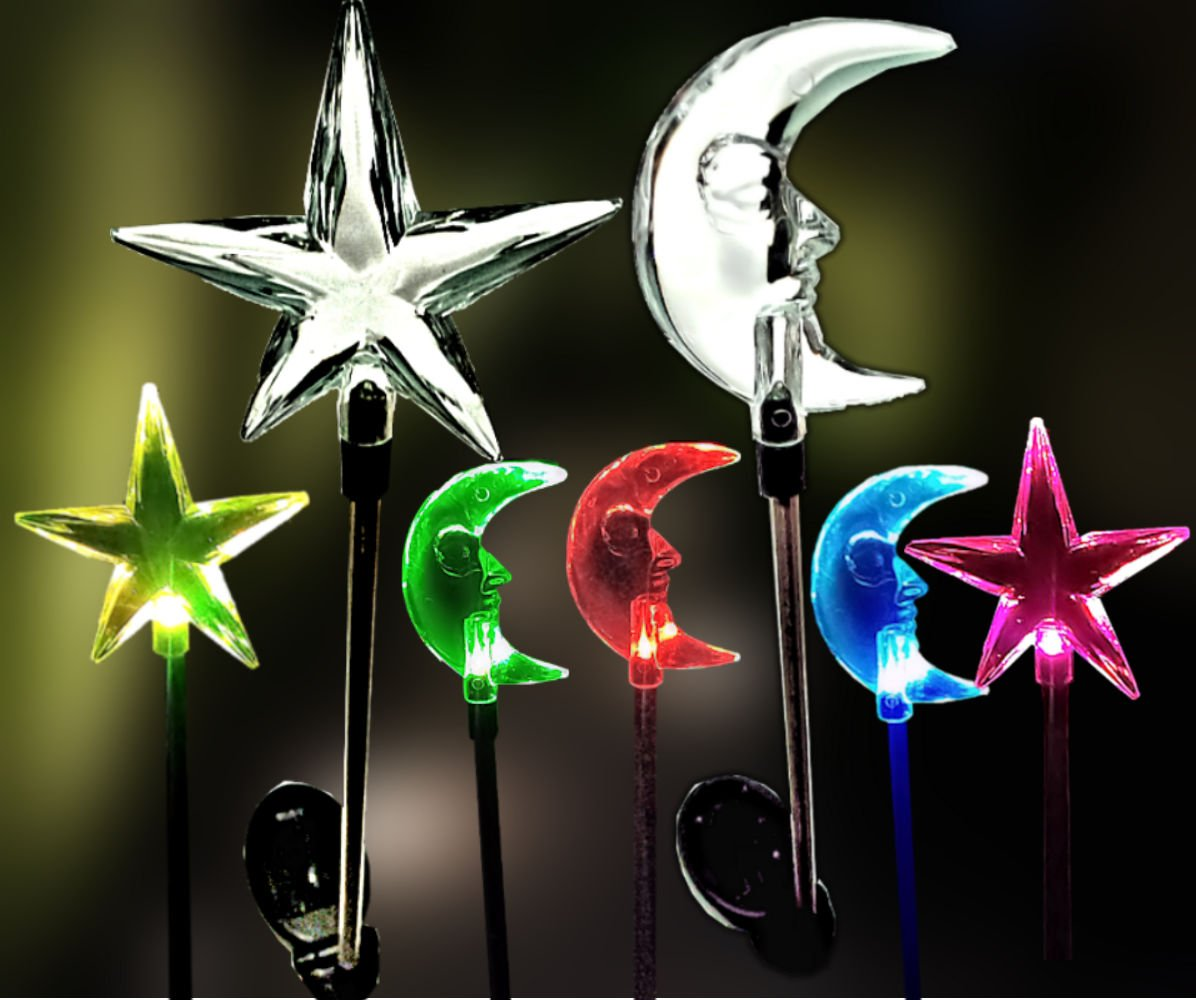 Brilliant Mo Sparkling Star Solar Lightoon Lights Garden Stakes Light