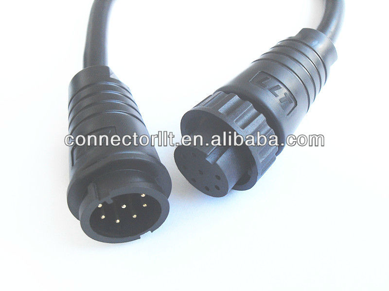 M22 8 Pin Male Female Waterproof Wire Connectors - Buy Wire ...