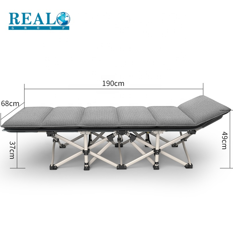 Outdoor army cot bed military folding camping bed with convenient side bag fashion designs bed folding