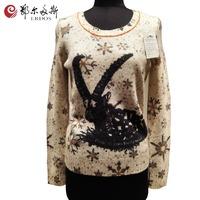 Erdos wholesaler printed wool cashmere knitting patterns Christmas sweater