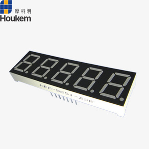 KEM-5651 0.56'' 5 digit 7 segment LED display screen size 63*19mm green