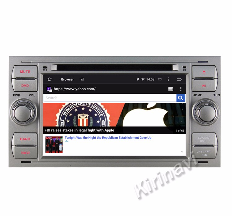 "Kirinavi WC-FU7016 android 5.1 7 ""touch screen auto multimedia systeem voor ford galaxy 2001-2007 dvd-speler gps navigatie wifi 3g"