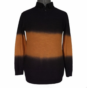 Winter pullover two in one and special dip dye Men sweater